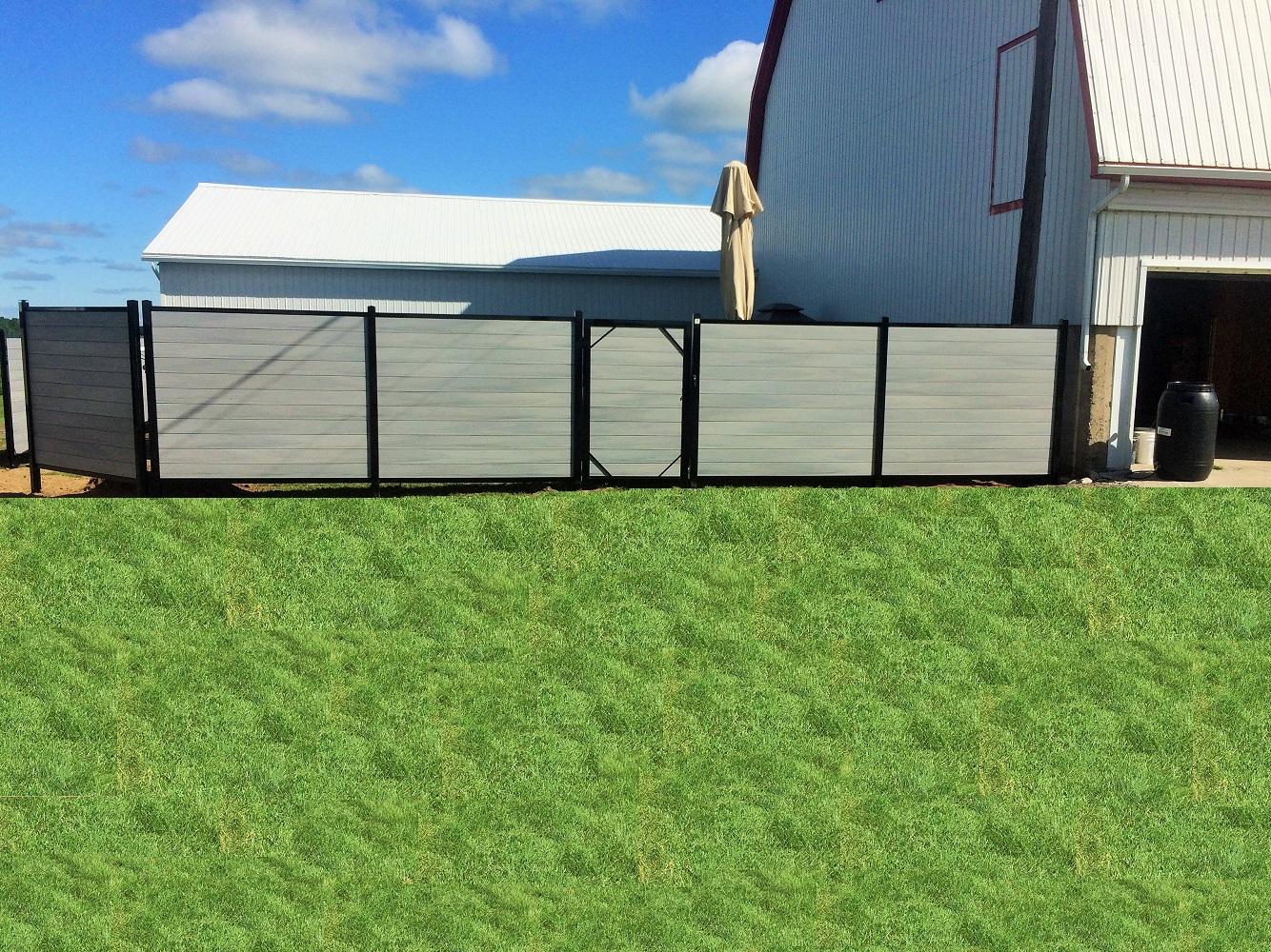 Barrière simple Intimité Composite – 72» Haut – Light Grey