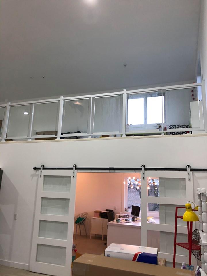 Rampe de verre Excel 20 – 42» haut – Blanc